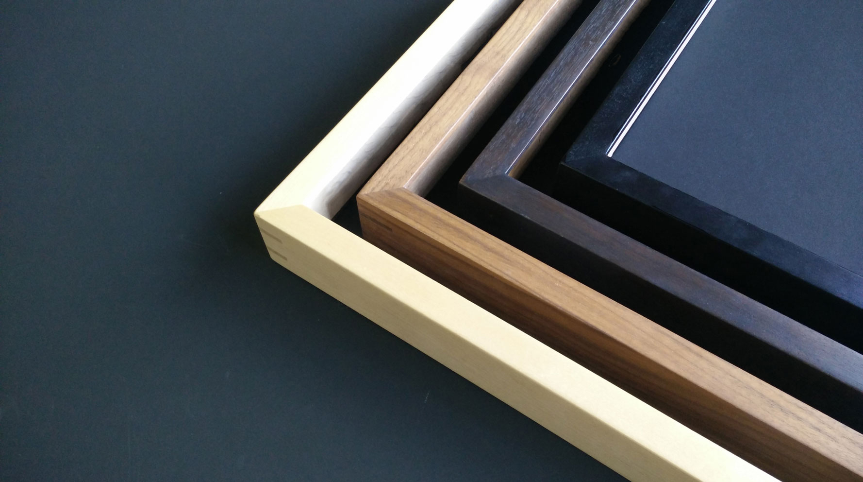 Hand-finished hardwood picture frames